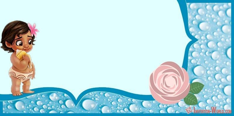 Baby Moana Invitation Card - 7+ Moana Invitation Templates - Free and Printable
