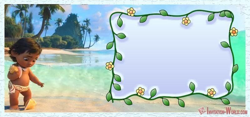 Baby Moana Invitation 150x150 - Baby Moana Invitation Card