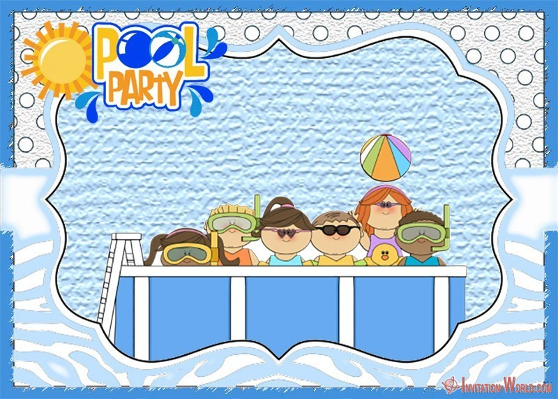 Custom Pool Party Invitation Card - Free Pool Party Invitation Templates