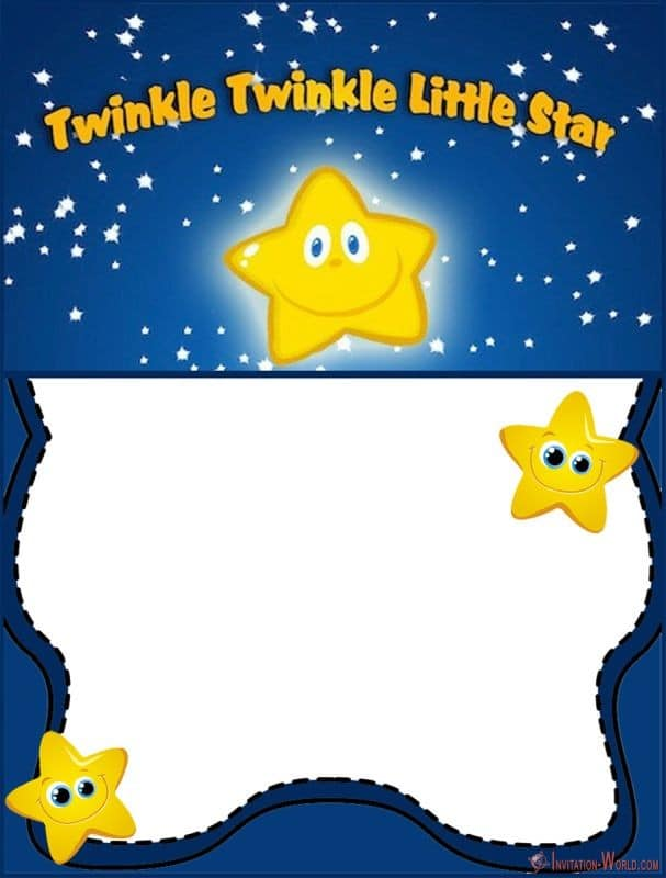 Custom Twinkle Twinkle Little Star Template - 5 New Printable Twinkle Twinkle Little Star Invitation Templates