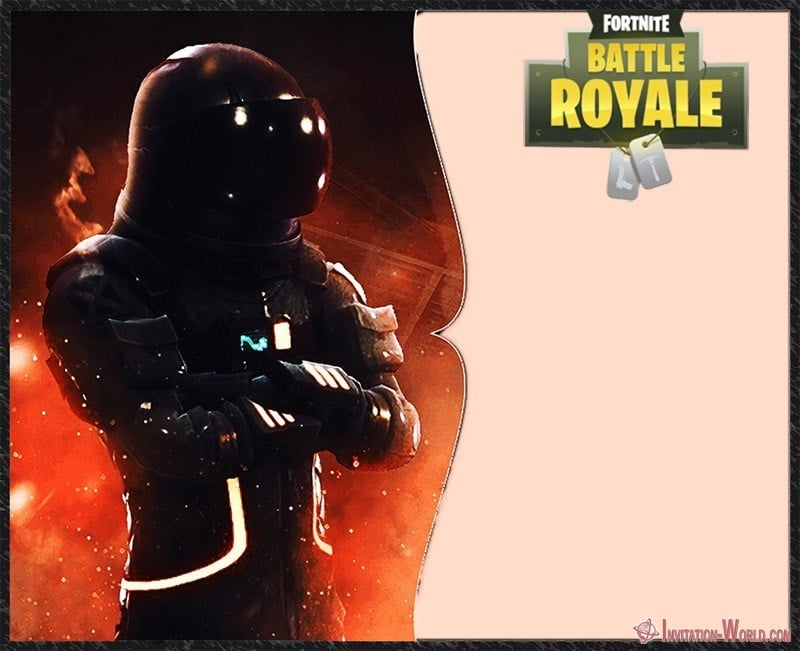 Fortnite Battle Royale Invitation Free - 8 Fortnite Invitation Templates for Epic Party