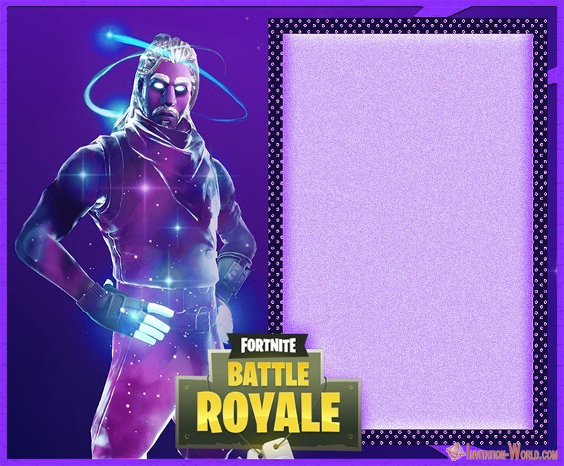 Fortnite Battle Royale free card - 8 Fortnite Invitation Templates for Epic Party