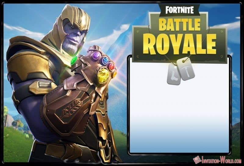 Fortnite Battle Royale invitation template - Fortnite Battle Royale invitation template