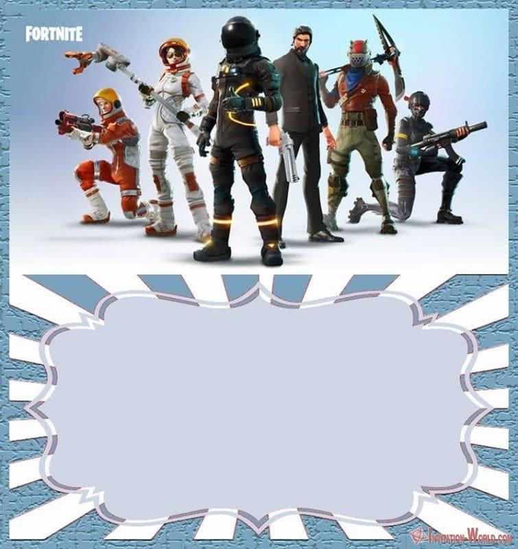 Fortnite party invitation 150x150 - Fortnite birthday invitation template