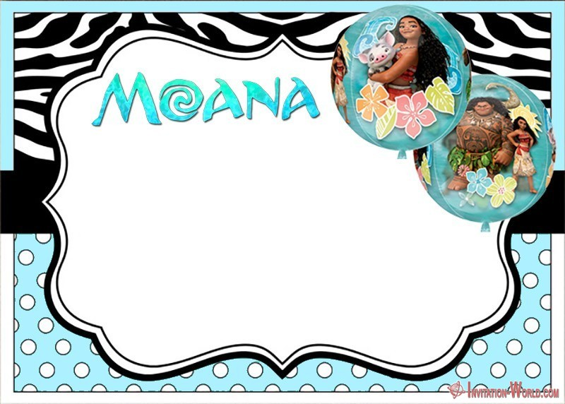 Free Moana Invitation - 7+ Moana Invitation Templates - Free and Printable