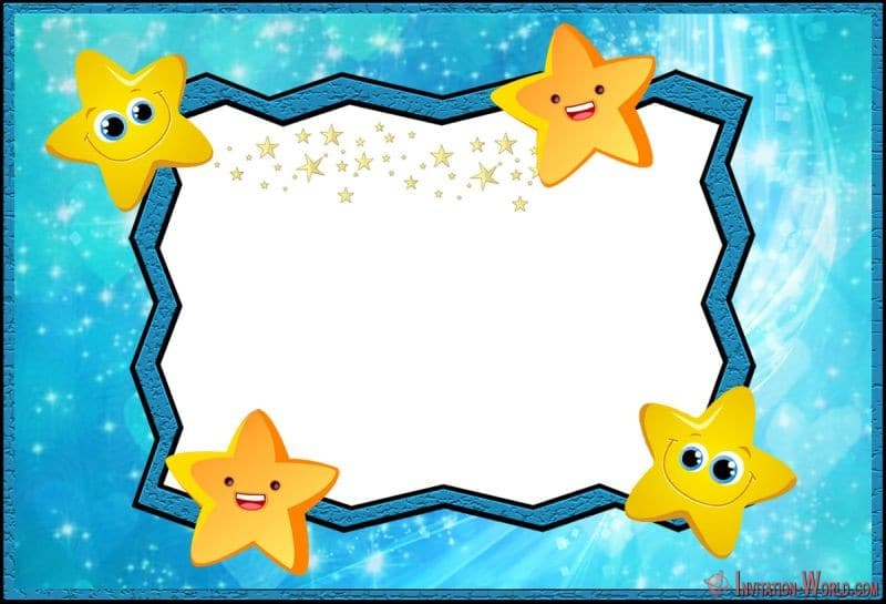 Free Online Twinkle twinkle little star Invitation - 5 New Printable Twinkle Twinkle Little Star Invitation Templates
