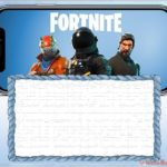 Free Printable Fortnite invitation card  150x150 - Fortnite template