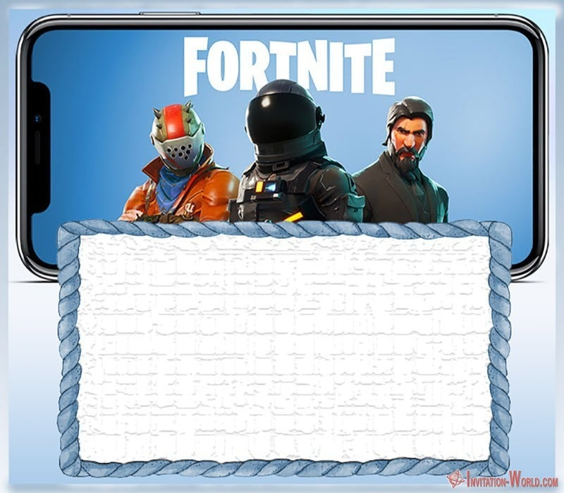 Free Printable Fortnite invitation card  - 8 Fortnite Invitation Templates for Epic Party