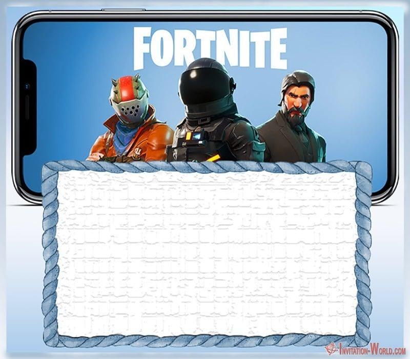 Free Printable Fortnite invitation card  - 8 Fortnite Invitation Templates for Epic Party
