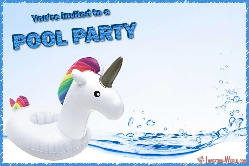 Free Printable Pool Party Birthday Invitation - Free Pool Party Invitation Templates