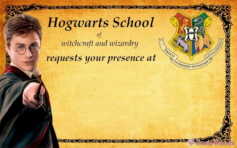 Harry Potter Birthday Invitation - 9+ Free Harry Potter DIY Invitations