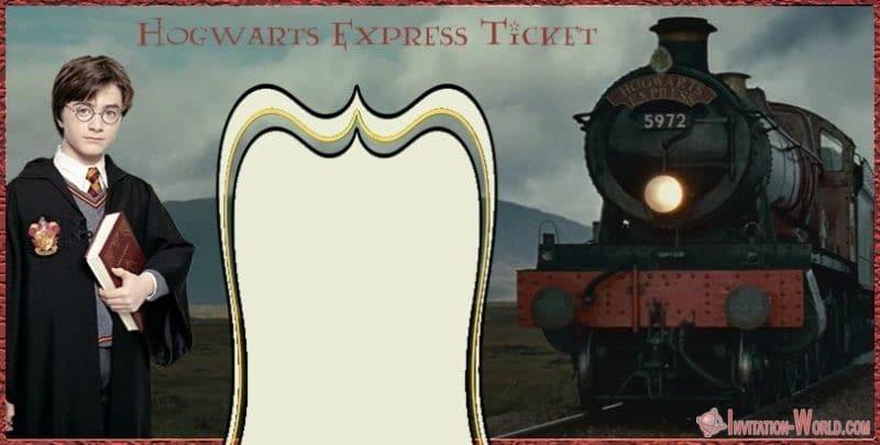 Harry Potter Hogwarts Express Invitation Free - 9+ Free Harry Potter DIY Invitations