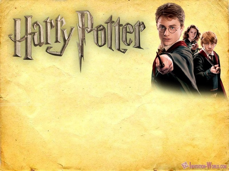Harry Potter Invitation Printable - Harry Potter Invitation Printable