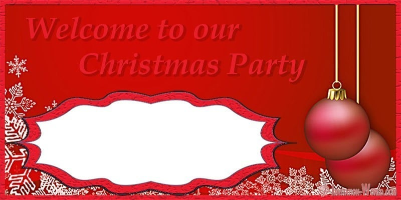 Invitation welcome to christmas party - Invitation - welcome to christmas party