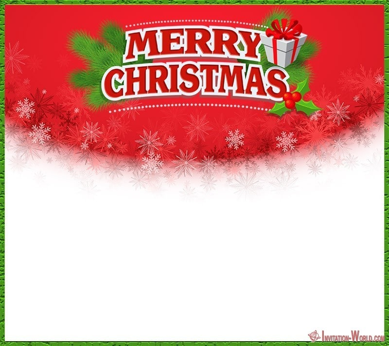 Merry Christmas Party Invitation - Merry Christmas Party Invitation