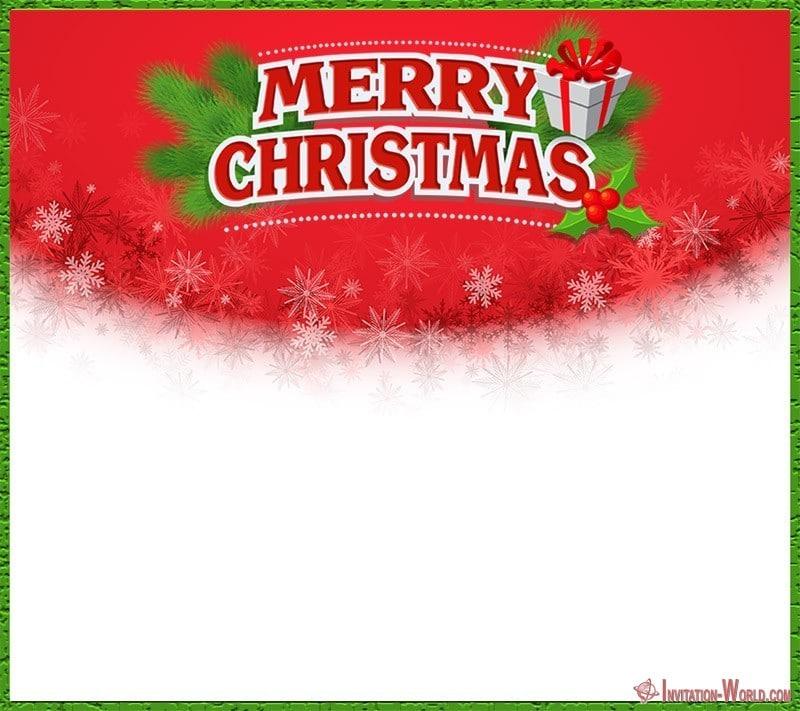 Merry Christmas Party Invitation - 11 Free Christmas Invitation Templates