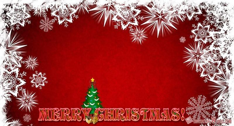 Merry Christmas 150x150 - Printable Christmas Invitation Template