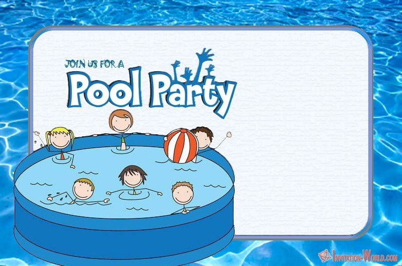 Pool Birthday Party Invitation - Pool Birthday Party Invitation