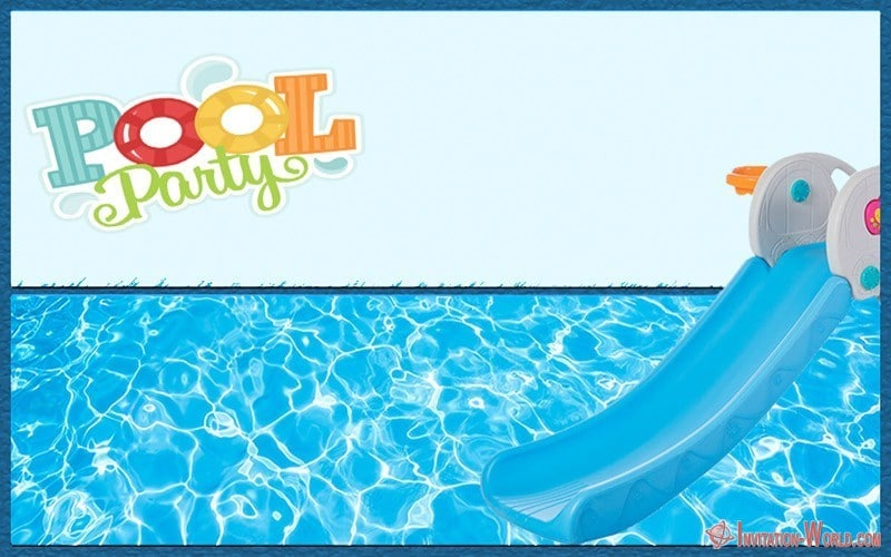 Pool Party Invitation Card - Free Pool Party Invitation Templates