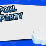 Pool Party Invite 150x150 - Pool Party Invitation Template