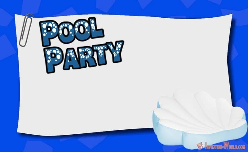 Pool Party Invite - Free Pool Party Invitation Templates