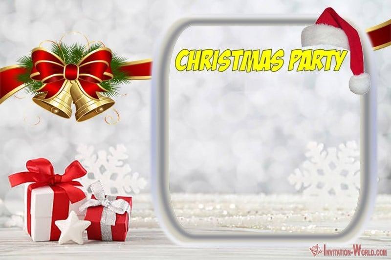 Printable Christmas Invitation Template - Printable Christmas Invitation Template