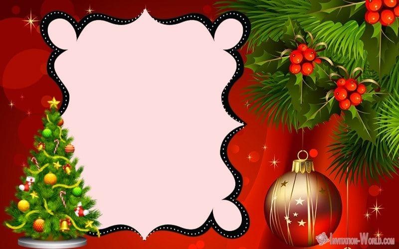 Printable Christmas Template - 11 Free Christmas Invitation Templates
