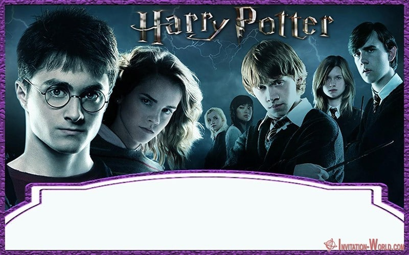 Printable Harry Potter Invitation Template - 9+ Free Harry Potter DIY Invitations