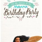 Printable Moana Birthday Invitation Template 150x150 - Moana Invitation Design