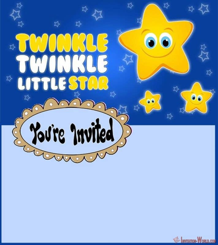 Twinkle Twinkle Little Star Invitation Design - 5 New Printable Twinkle Twinkle Little Star Invitation Templates