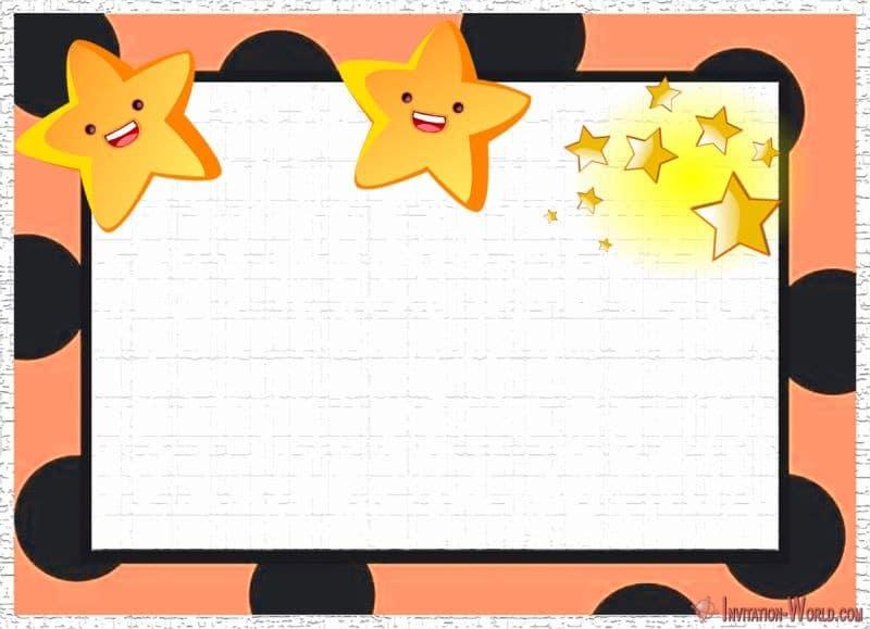 Twinkle twinkle little star Invitation Template - 5 New Printable Twinkle Twinkle Little Star Invitation Templates