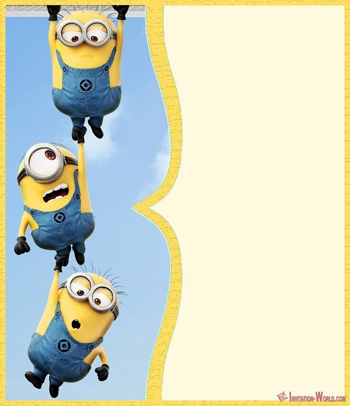 Free Minion Invitation Template - Minion Invitations - The Best of 2018