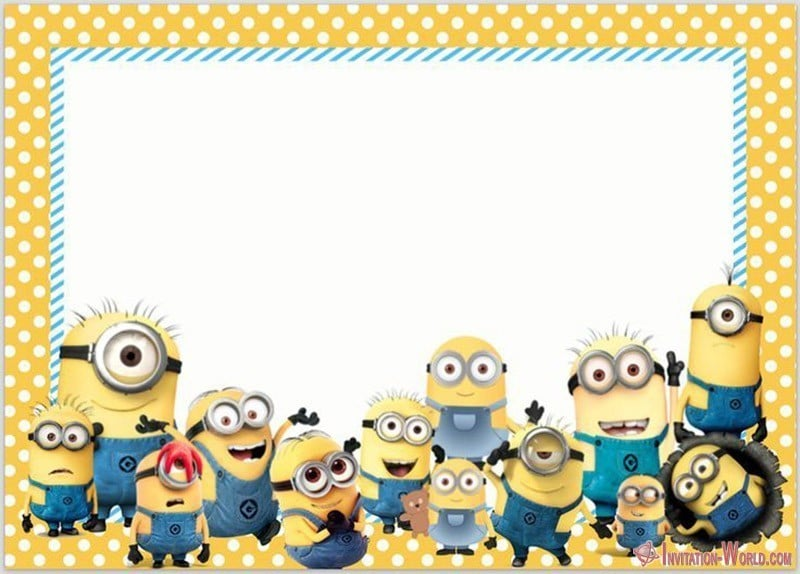 picture about Printable Minion Invitations titled Minion Invites The Simplest of 2018 Invitation Global