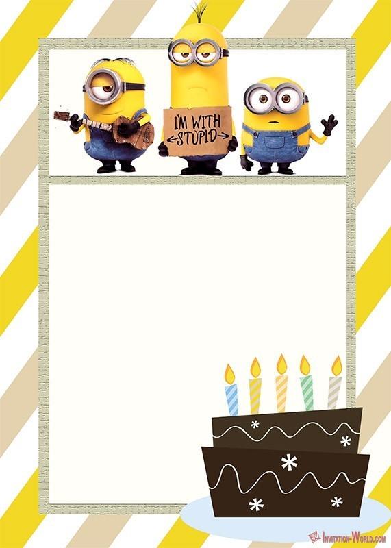 Minion Birthday Invitation Template - Minion Birthday Invitation Template