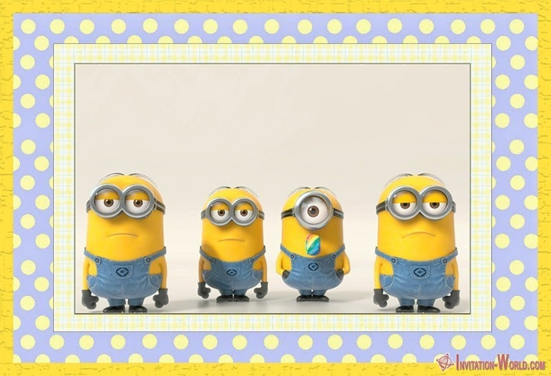 picture relating to Minions Printable Invitations named Minion Invites The Simplest of 2018 Invitation Worldwide