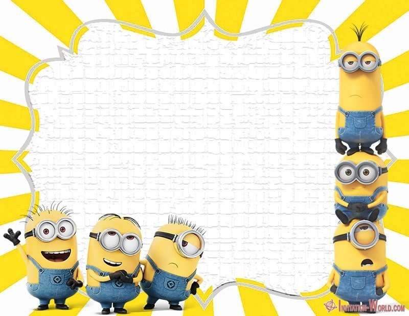 photograph about Printable Minion Invitations called Minion Invites The Suitable of 2018 Invitation Earth