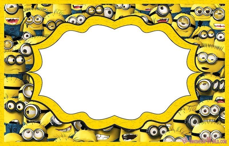 Minions Invitation Card 150x150 - Minion Invitation Design