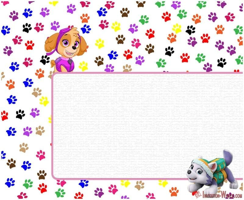 Paw Patrol Editable Invitation for Girls 150x150 - Editable Paw Patrol Invitation Card