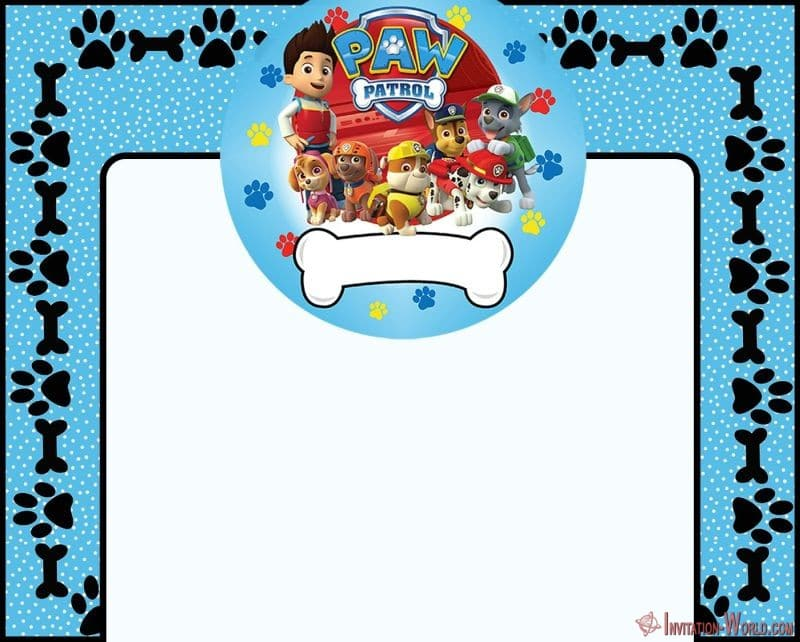 Paw Patrol template for boys - 5 Unique Paw Patrol Templates for Girls