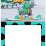 Printable Everest Invitation 150x150 - Skye invitation - Paw Patrol template for girls