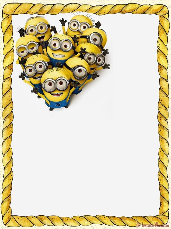 Printable Minions Template - Minion Invitations - The Best of 2018
