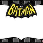 Batman Theme Superhero Invitation Blank