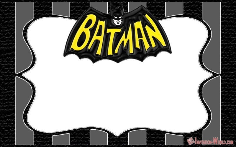 Batman Theme Superhero Invitation Blank - Batman Theme Superhero Invitation Blank