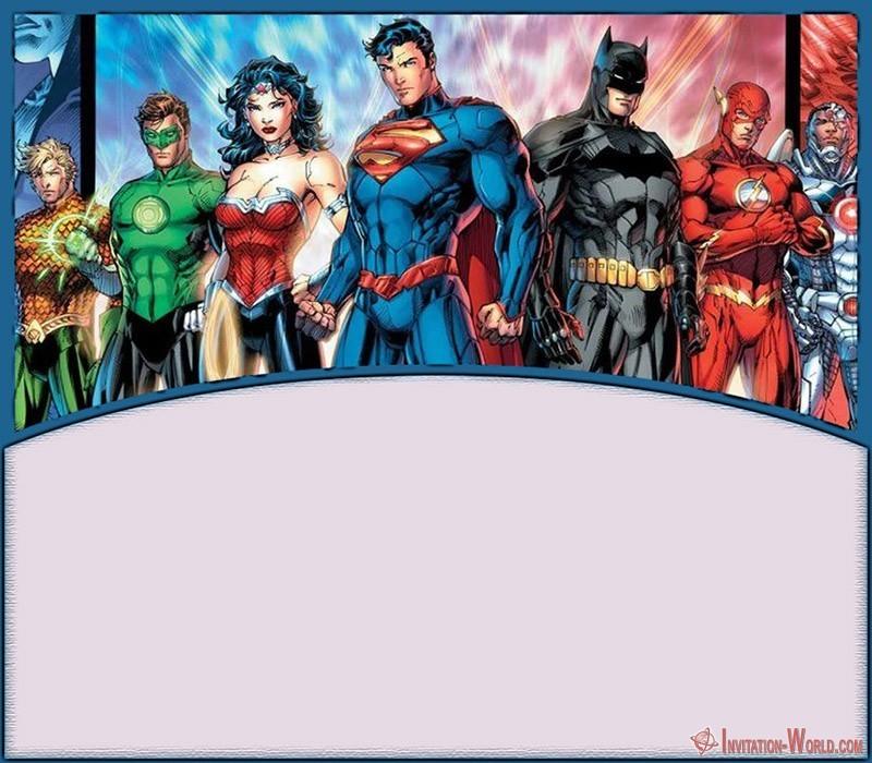 DC Comics Superheroes Invitation 150x150 - Batman Theme Superhero Invitation Blank