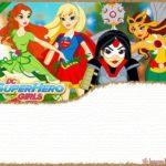 DC Superhero Girls Invitation Template