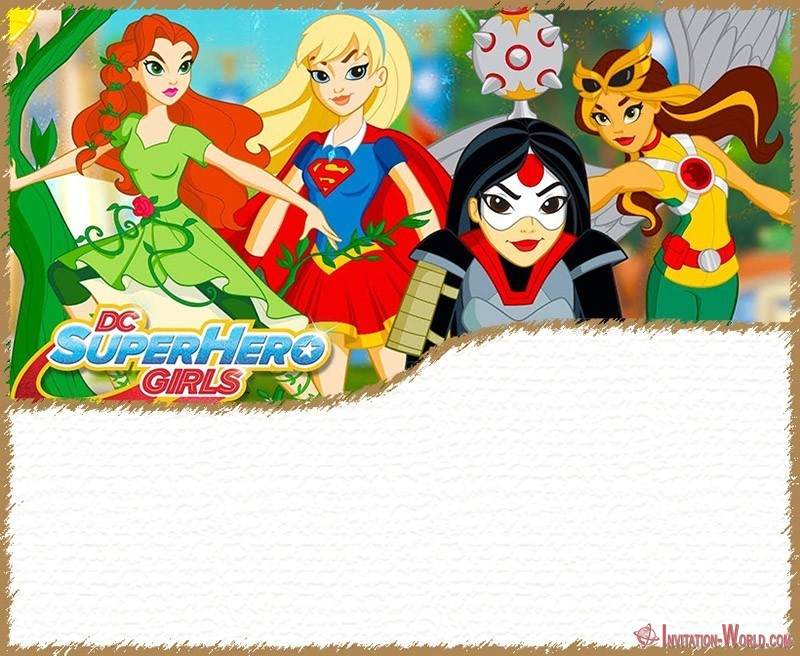 DC Superhero Girls Invitation Template 800x620 - 11+ Superheroes Invitations Templates You'd Go Crazy For