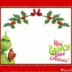 Dr. Seuss Grinch Christmas Invitation Card 150x150 - Grinch 2018 Printable Template