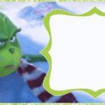 Grinch 2018 Printable Template 150x150 - Dr. Seuss Grinch Christmas Invitation Card