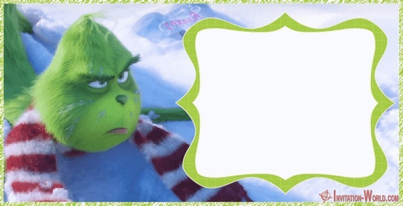 Grinch 2018 Printable Template - The Grinch 2018 Invitation Cards