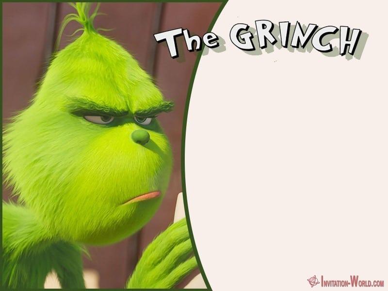 Grinch Birthday Invitation Template - The Grinch 2018 Invitation Cards